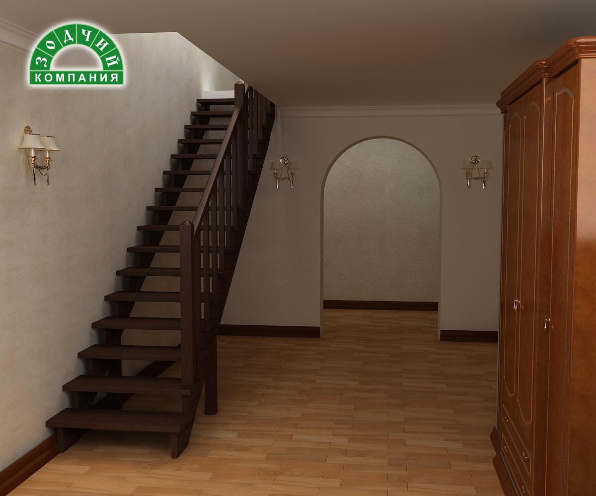 Фото прямых лестниц в частном доме 2